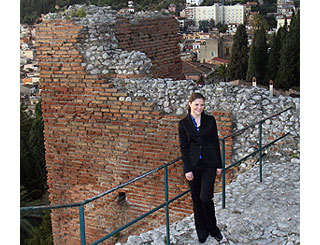 Princess Victoria checks out the sights of Sicily