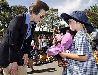 Princess Anne visits fire-ravaged regions Down Under