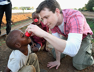 GMTV's Ben Shephard brings red noses to Tanzania