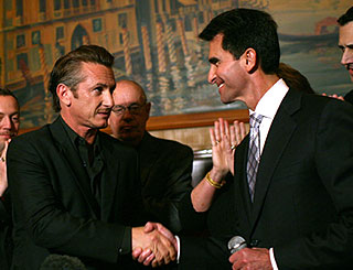 Sean Penn at creation ceremony for Harvey Milk day