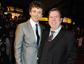 Michael Sheen and Timothy Spall at soccer flick premiere
