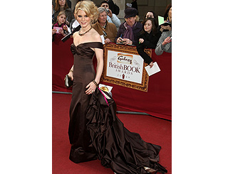 Emilia Fox is belle of literary awards in Oscar-worthy gown