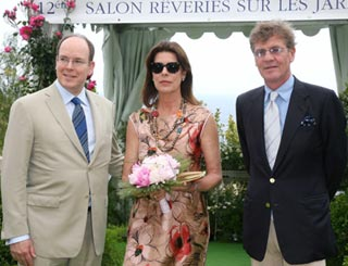 Monaco's Albert and Caroline supervise battle of blooms