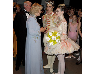 Camilla and Charles meet country's finest young ballet dancers