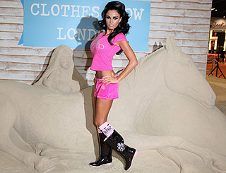 Show goes on for Katie Price at Clothes Show