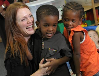 Celebrity ambassador Julianne Moore supports kids' causes