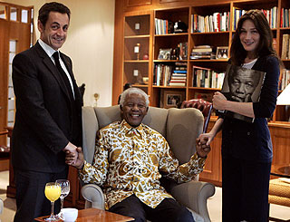 Carla Bruni-Sarkozy joins star-studded Mandela line-up
