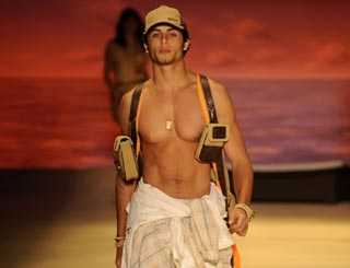 Madonna's man Jesus on catwalk during Sao Paulo Fashion Week