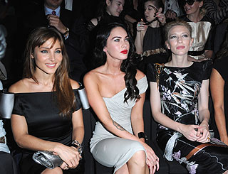 Megan Fox joins fellow screen lovelies at Paris couture shows
