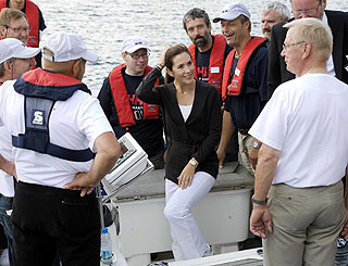 Princess Mary looking ship-shape at charity sailing event