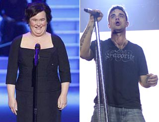 Susan Boyle tipped to beat Robbie in race for Christmas number one