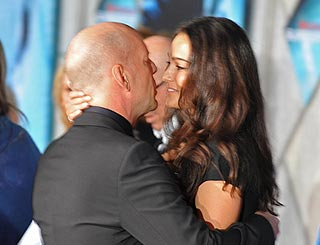 Bruce Willis and his spring bride Emma still in honeymoon mood