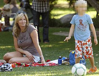 Rod Stewart and Penny's little boy shows off footie skills