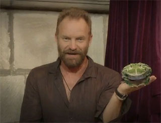 Sting sends SOS to support Charles' rainforest campaign