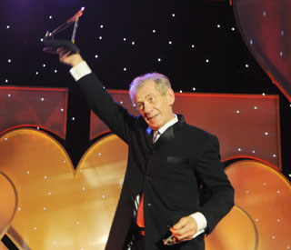 Sir Ian McKellen honoured at Variety Club Awards