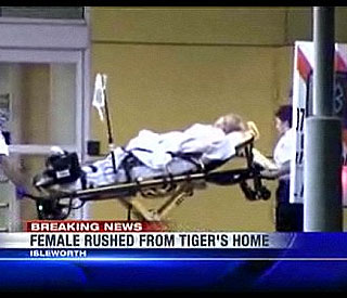 Female taken from Tiger Woods' home in ambulance