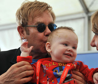 Elton John pledges to support little orphan Lev