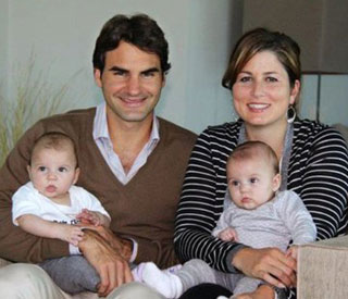 Roger Federer shares festive family greeting