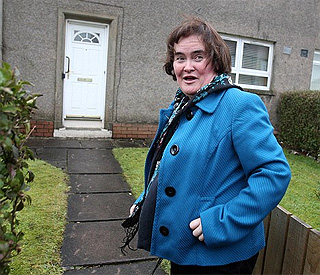 Susan Boyle returns home to find intruder
