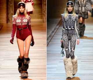 D&G present Alpine chic during Milan Fashion Week
