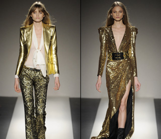 Balmain gets Paris Fashion Week off to a golden start
