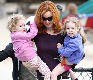 Marcia Cross' quality time with curly-topped twins