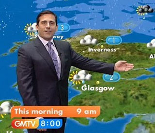 Hollywood's Steve Carell turns GMTV weatherman