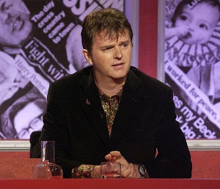 Paul Merton standing in for Adrian on The One Show