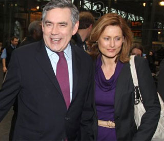 Sarah defends 'mortified' husband Gordon Brown