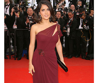 Salma Hayek donates Gucci Cannes gown to charity