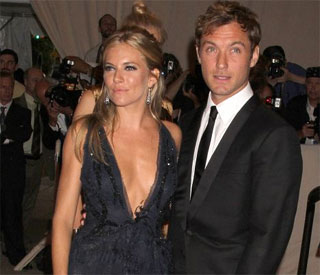 Jude Law and Sienna Miller spotted in heated row