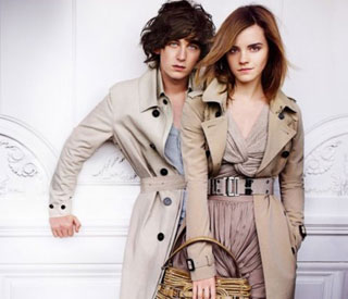 Emma Watson's theatre date with fellow Burberry model