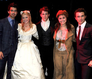 Jonas Bros cheer on Nick as he lives West End dream