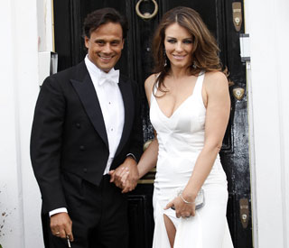 Elizabeth Hurley dazzles at Elton's White Tie Ball