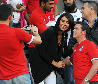Christine Bleakley brings smiles to England fans' faces