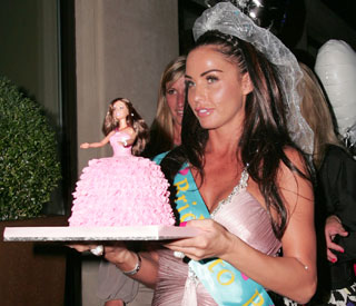 Friends throw Katie Price a Barbie-themed hen party