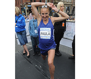 Seven-months-pregnant Paula Radcliffe on 10k run