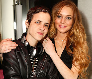 Lindsay Lohan dines out with ex after Twitter defence