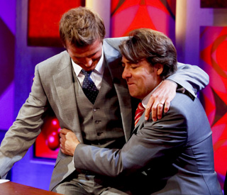 Tears and a tackle with Becks on Wossy's last show