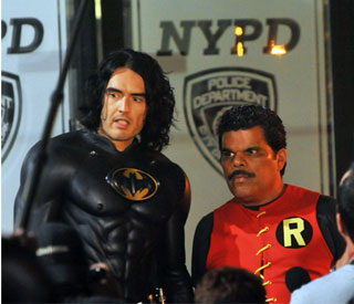 Russell Brand looking seriously buff as Batman