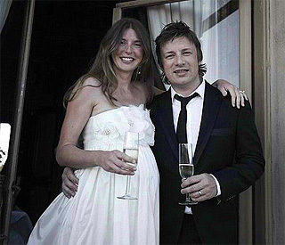Jamie Oliver and Jules toast ten years of marriage