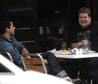 Best pals Dominic Cooper and James Corden do lunch