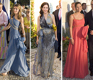 Princess Letizia takes fashion crown at Greek wedding