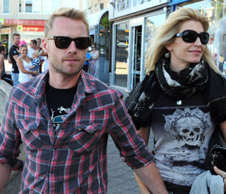 All smiles, Ronan Keating and estranged wife reunited