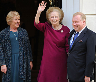 Baroness Thatcher returns home after hospital stay