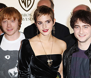 Emma Watson glams up ahead of 'Potter' premiere