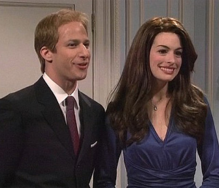 Anne Hathaway spoofs Kate Middleton in US sketch