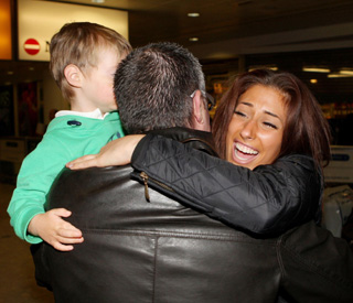 Welcome home! Stacey Solomon's emotional return