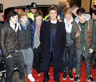 Pop star welcome for X Factor's One Direction