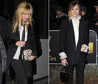 Suits you: Kate Moss and Fearne lead girl tux revival